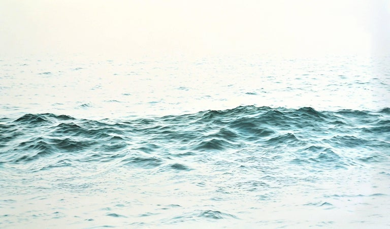 "Chris Armstrong Landscape Painting - ""Brahman, HIghly Realistic Water (Ocean)  Painting in Blue/Green &  White"""