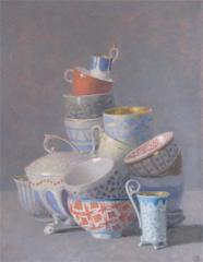Many Cup Composition, Some with Orange