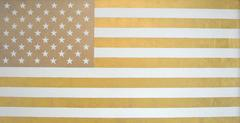 U.S. Flag in White and Gold
