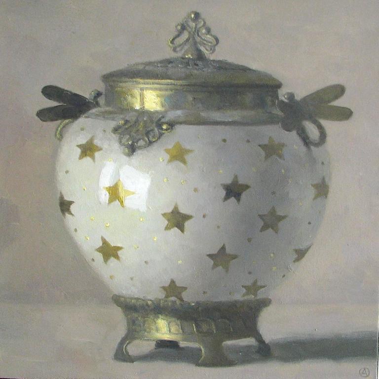 Art Nouveau Vase with Golden Stars