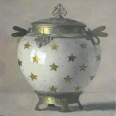Art Nouveau Vase with Golden Stars