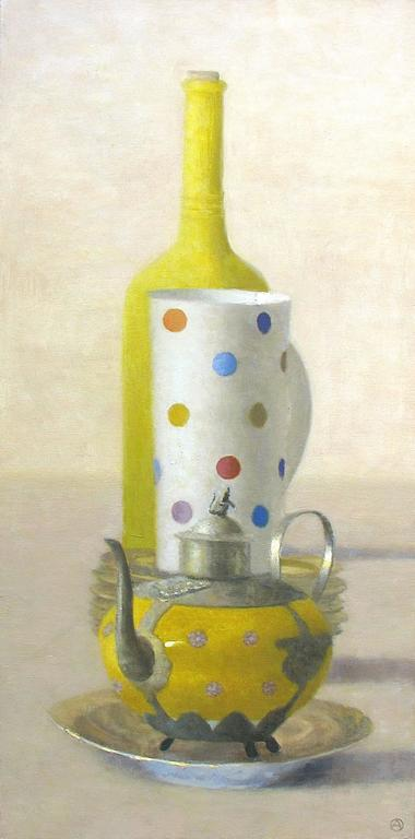 Olga Antonova Still-Life Painting - Yellow Composition