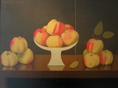 """Monet's Apples""    Oil on Linen,  14 x 24 Inches"