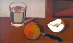 Still Life with Pears, Knife, and Glass of Water