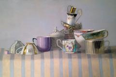 Cup Composition with Stripes