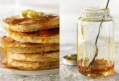 Pancakes and Syrup     (Also Available as Individual Images, Not a Diptych)