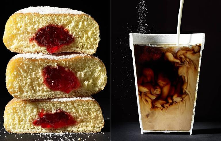 Cut Food  -  Donuts and Coffee