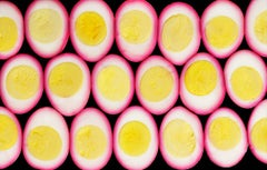 """""""Cut Food  -  Eggs""""   Multiple Sliced Egg Composition Yellow, White and Hot Pink"""