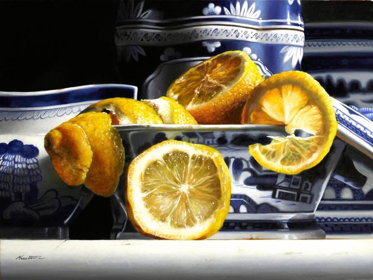 Larry Preston - Porcelain with Lemons 1