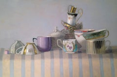 """""""Elegant Still Life of Cups with Stripes"""""""