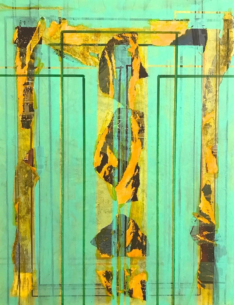 Nancy Berlin Abstract Painting - Holding On