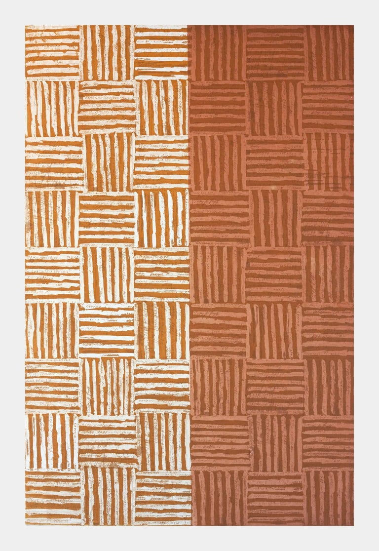 McArthur Binion Abstract Print - DNA: Etching: IV