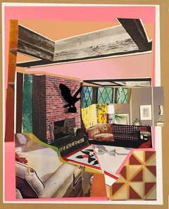 Interior: Fireplace with Blackbird
