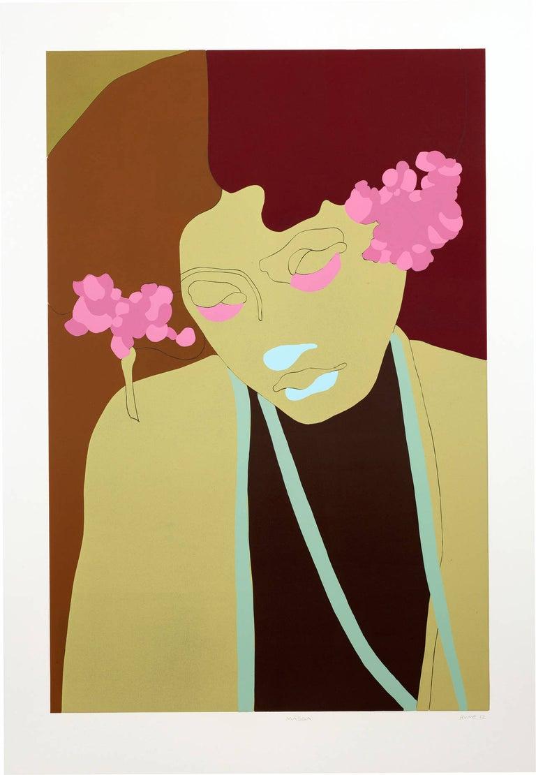 Gary Hume Figurative Print - Magda