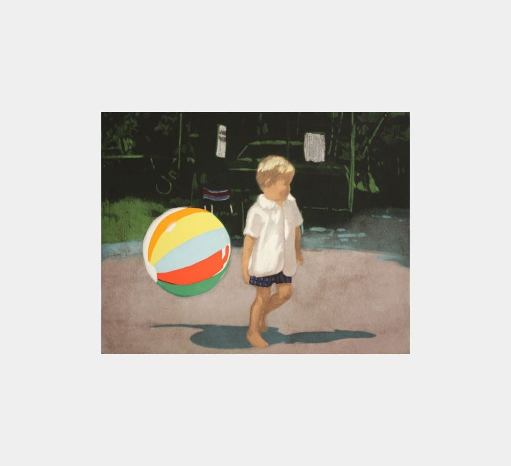 Isca Greenfield-Sanders Figurative Print - Tommy and the Ball