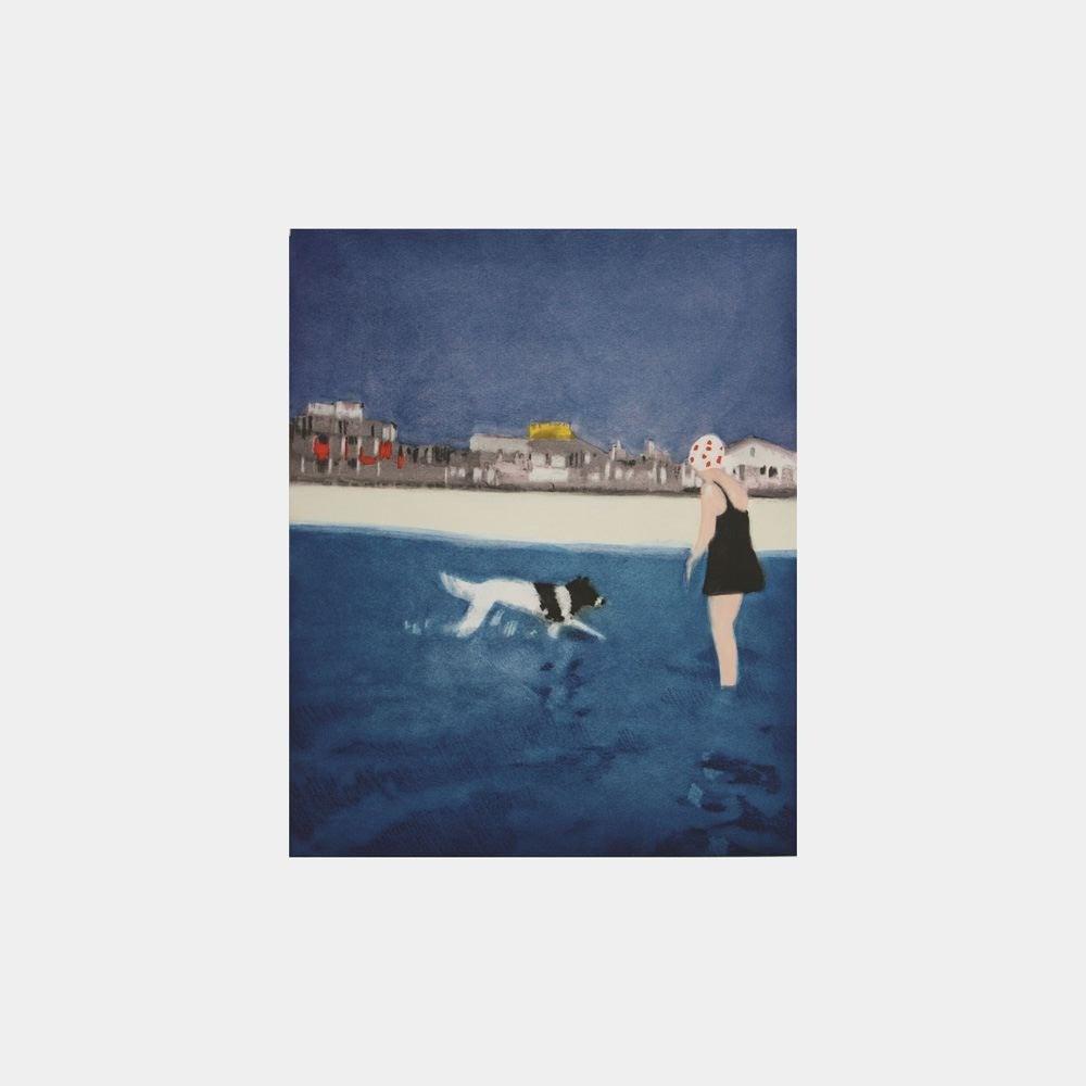 Isca Greenfield-Sanders Landscape Print - Silver Beach