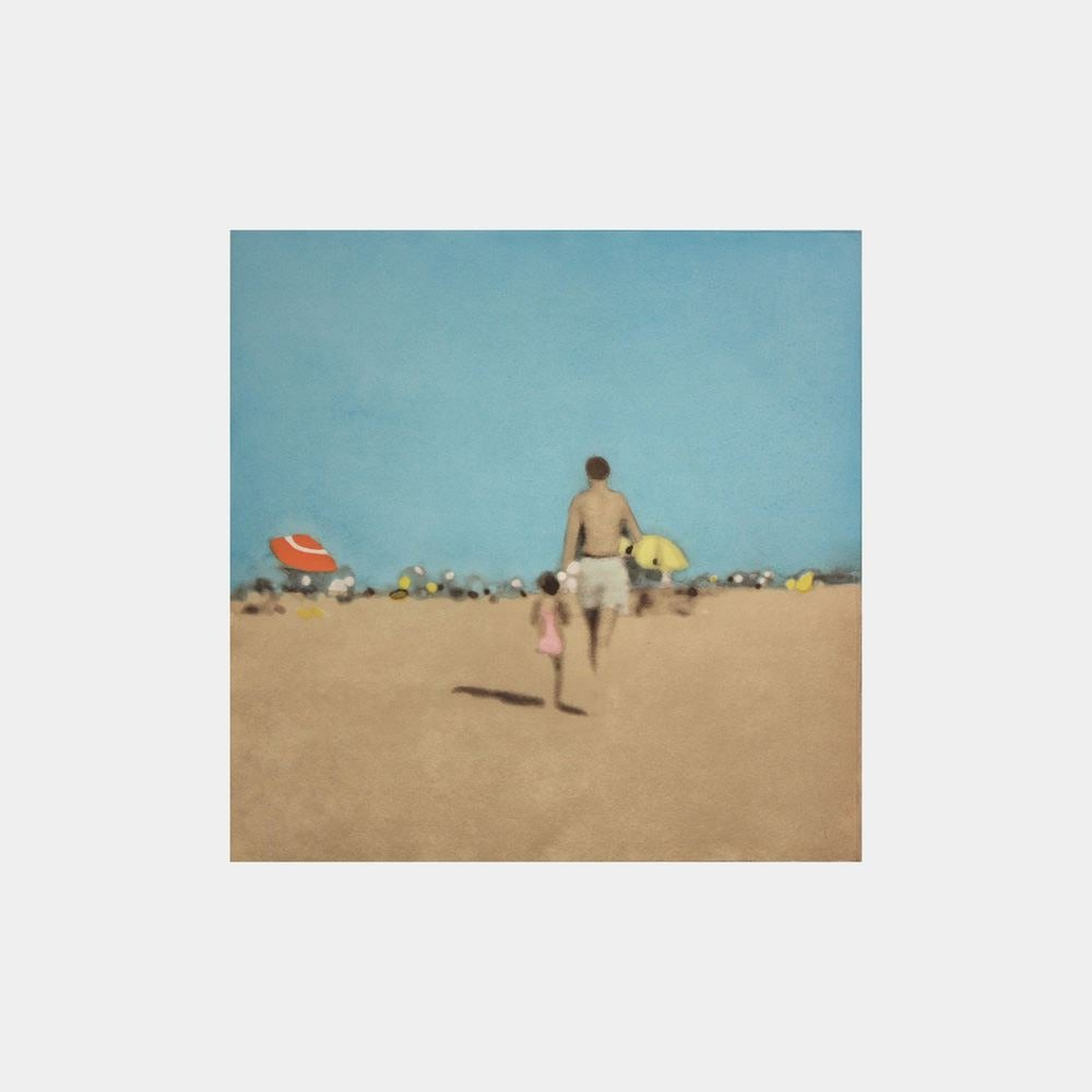 Isca Greenfield-Sanders Figurative Print - A Walk With Daddy