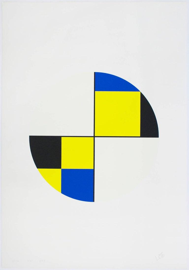 Leon Polk Smith Print - Werkubersicht/Work-Overview A