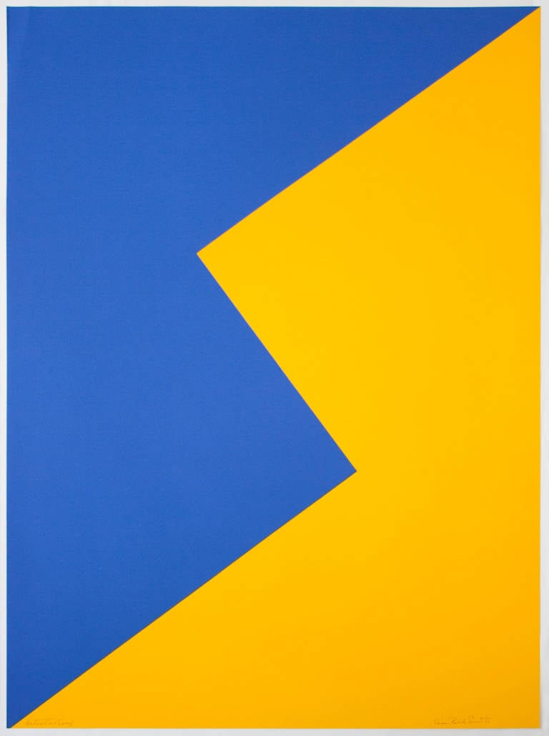 Leon Polk Smith Abstract Print - Untitled (Tamarind J)