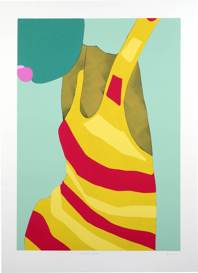 Gary Hume Figurative Print - London Fields