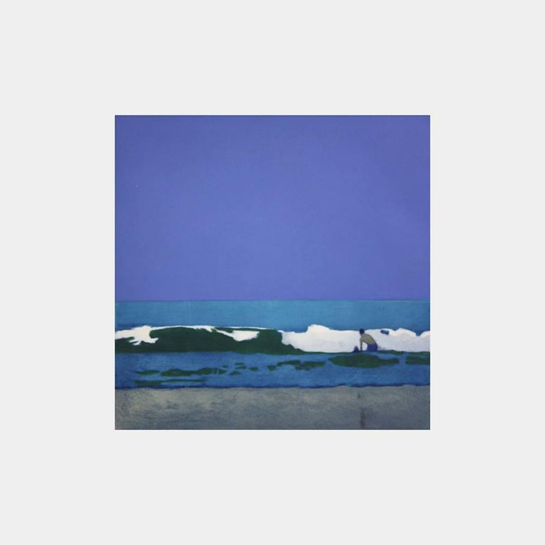 Man In The Waves - Print by Isca Greenfield-Sanders