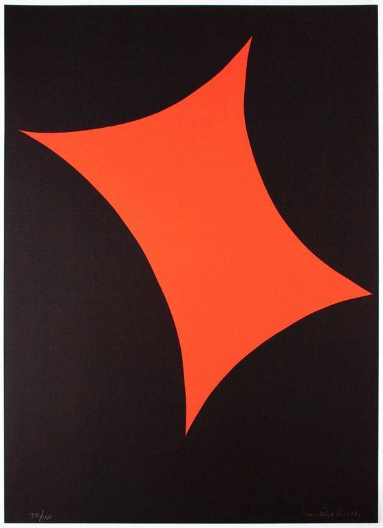Leon Polk Smith Abstract Print - Color Forms (E)