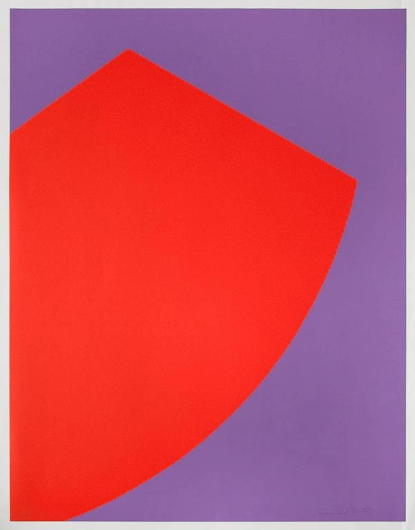 Leon Polk Smith Abstract Print - Untitled (Tamarind M)
