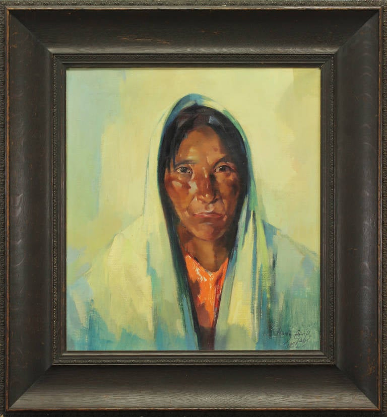 Hans Paap Untitled Taos Portrait Painting At 1stdibs