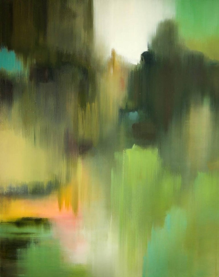 Liz Dexheimer's abstract, colorful landscapes reveal her fascination with the illusory and transcendent qualities of light and atmosphere. Both serve as a source of inspiration for her work.  She is interested in conveying a sense of place that goes