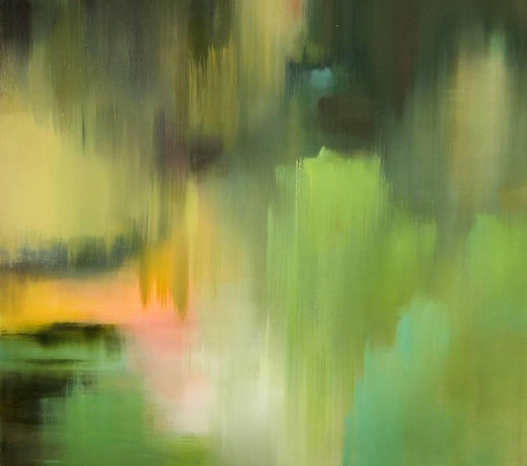 Seasonal Curtain Moss abstract landscape  For Sale 2