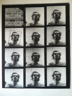 Untitled (Self Portrait Contact Sheet)