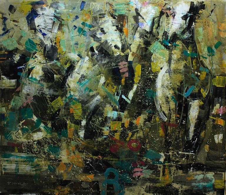 Fabio Modica Animal Painting - Horses II