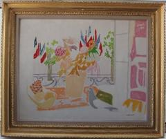 National Day in Paris - Oil on canvas - Signed
