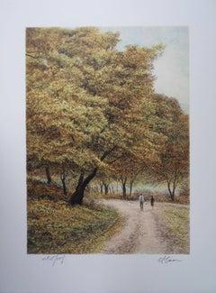 Central Park Views : Fall - Original handsigned lithograph