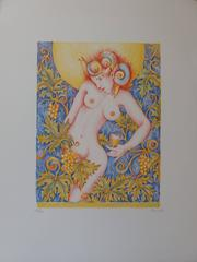 Bacchante, Grape and Wine - Original handsigned lithograph - 90 copies