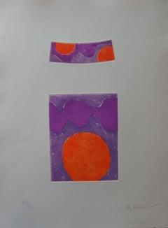 Orange Suns - Original handsigned etching - 80 copies