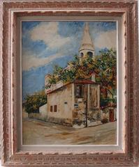 Montmartre : The House of Berlioz - Original signed oil on Board - C. 1950