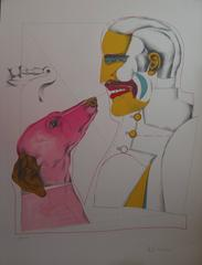 Man Best's Friend - Original handsigned lithograph - 250 copies