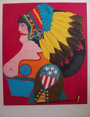 Miss American Indian - Original handsigned lithograph - 250 copies