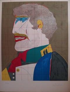 Profile Elegant Man - Original handsigned lithograph - 250 copies
