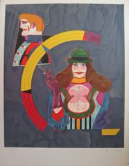 Couple, Woman Smoking a Cigarette - Original handsigned lithograph - 250 copies