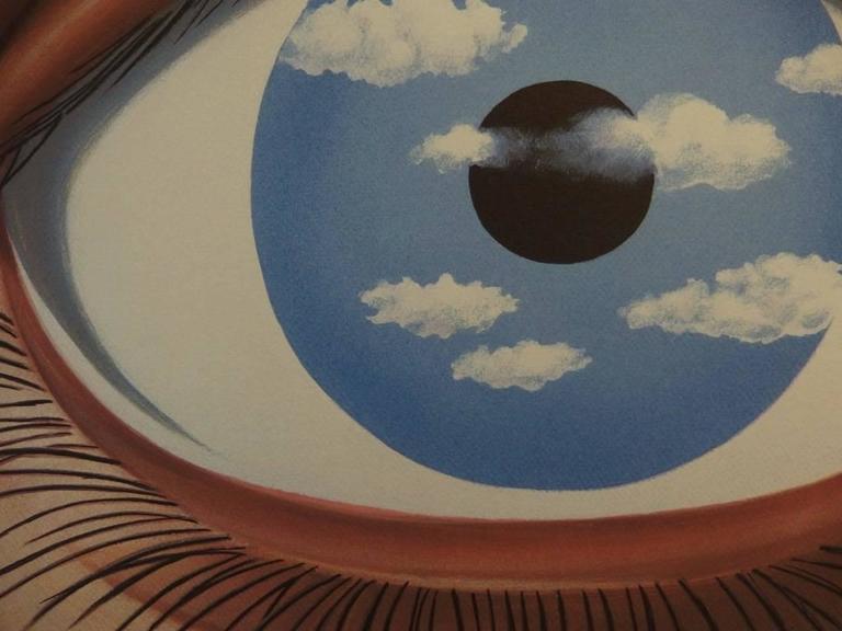 Ren magritte le faux miroir print at 1stdibs for Magritte le faux miroir