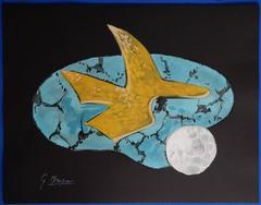 Bird of the Moon - Original signed lithograph - 399 copies