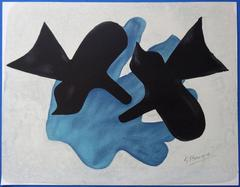 Two birds - Original signed lithograph - 99 copies