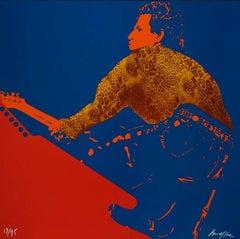The Rolling Stones : Keith Richards - Original handsigned silkscreen - 85 copies