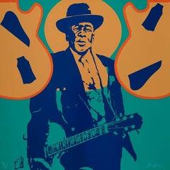 John Lee Hooker - Original handsigned silkscreen - 85 copies