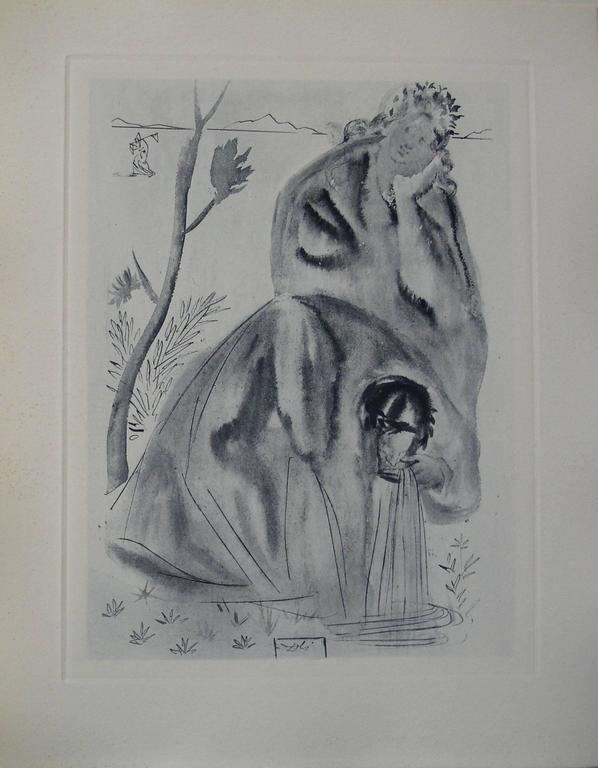 Salvador Dalí Figurative Print - La Source - Engraving - 150 copies