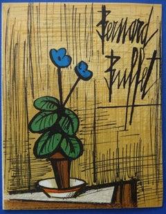 Small Blue Primrose : Original lithograph - Mourlot 1980