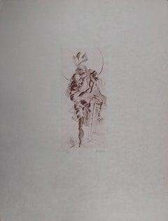 Dreamy Nude, Original etching, Handsigned