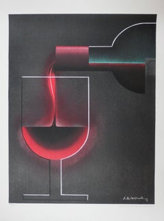 Bordeaux Red Wines - Lithograph - Plates signed & Numbered / 250